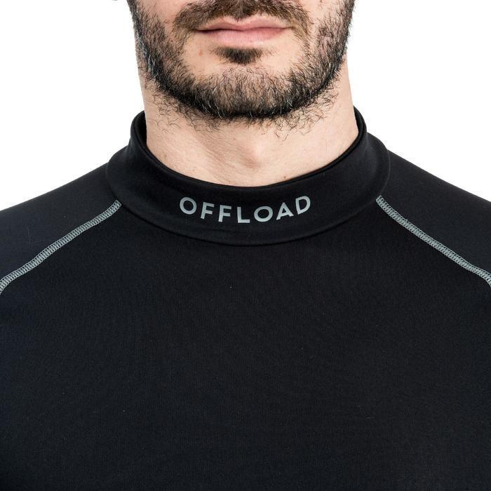 Sous maillot manches longues de rugby R500 homme noir