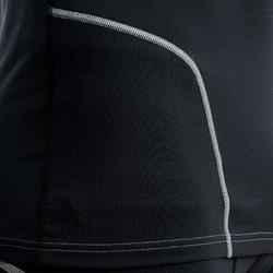 Rugby-Funktionsshirt Langarm R500 Herren schwarz