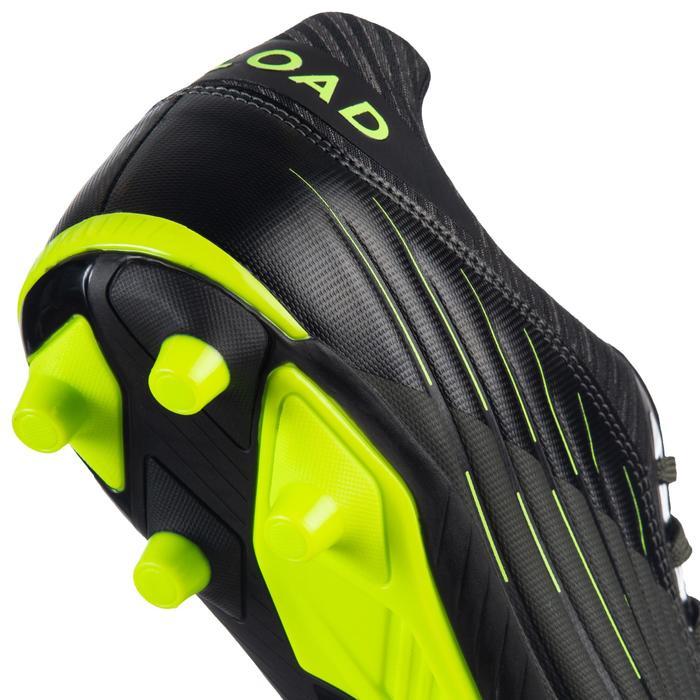 Botas de Rugby Offload Skill R500 FG adulto caqui y amarillo