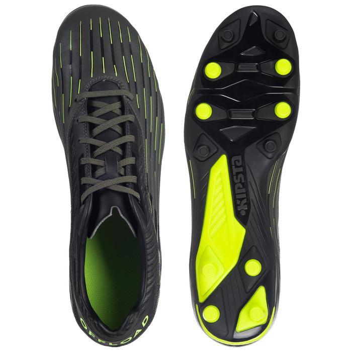 Rugbyschoenen voor drassig terrein Skill R500 FG kaki/geel