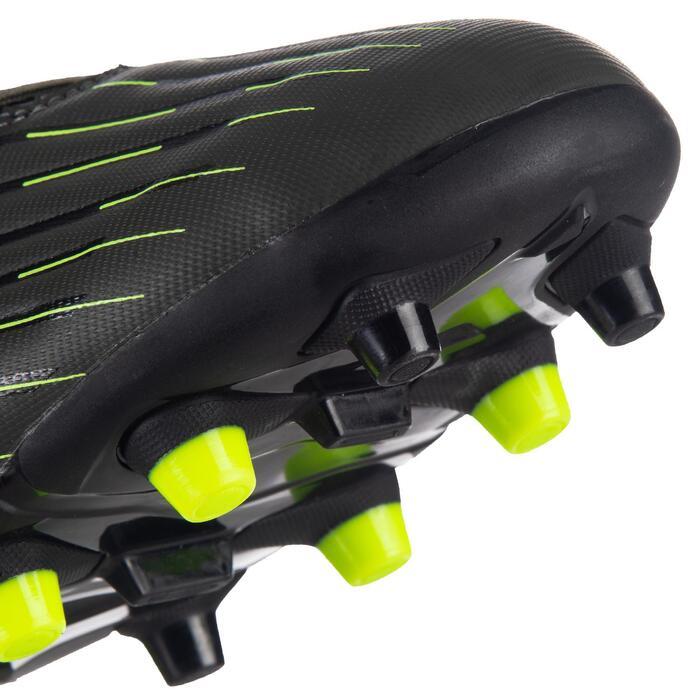 Chaussure de rugby terrains secs Skill R500 FG kaki jaune
