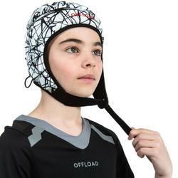 Kopfschutz Rugby R500 Kinder weiß/schwarz
