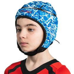 500 Kids' Rugby Scrum Cap - Blue/White