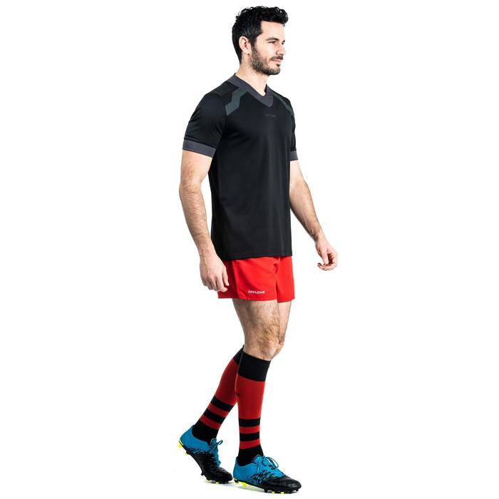 Camiseta Rugby Offload R100 hombre negro