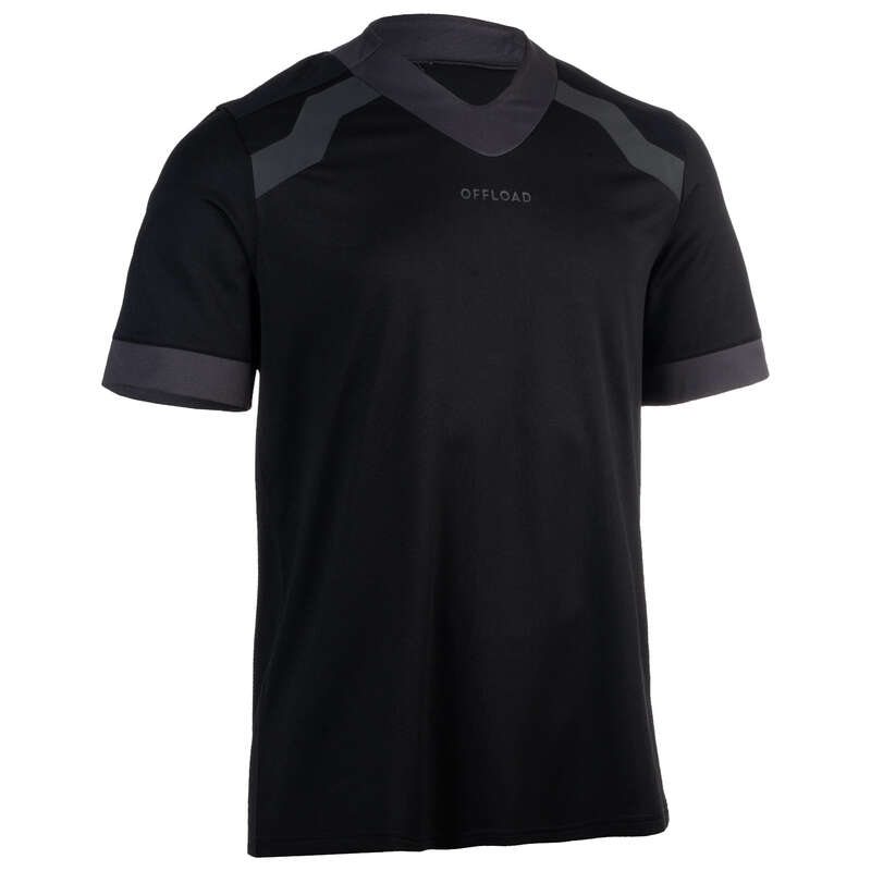 APPAREL RUGBY MEN Rugby - Men's Shirt R100 - Black OFFLOAD - Rugby Clothing