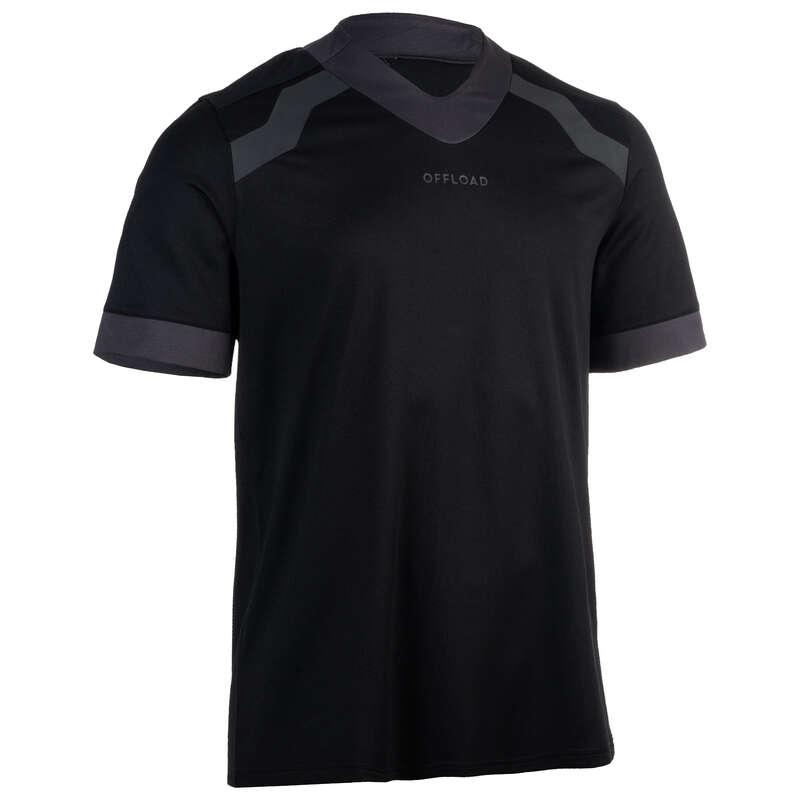 ÎMBRĂCĂMINTE RUGBY Baschet, Handbal, Volei, Rugby - Tricou Rugby R100 Adulţi OFFLOAD - Rugby