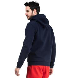 SWEAT-SHIRT CAPUCHE CLUB RUGBY R500 ADULTE bleu