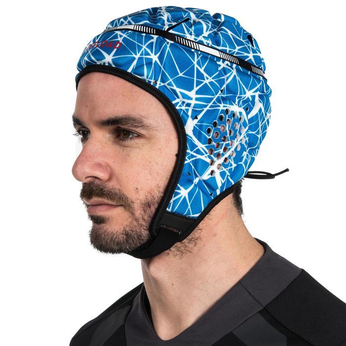 Kopfschutz Rugby R500 Erwachsene blau