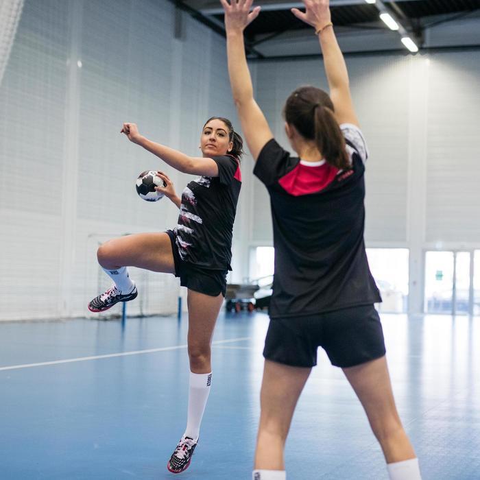 Handballschuhe H500 Damen schwarz/rosa