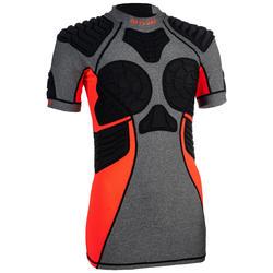 Rugby-Schulterschutz R900 Damen grau/koralle