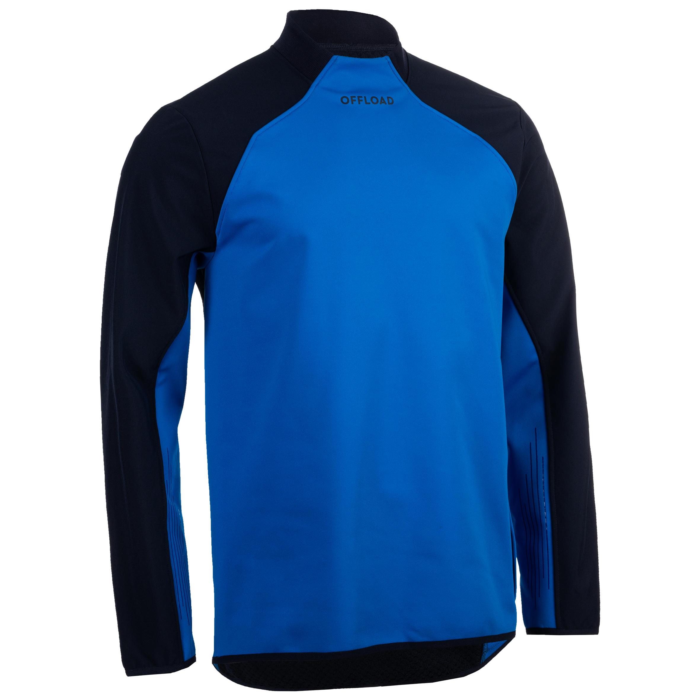 Sweatshirt Training Rugby R500 Erwachsene blau | Sportbekleidung > Fleecepullover | Offload