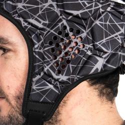 Kopfschutz Rugby R500 Erwachsene schwarz/grau