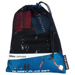 Kit de cinturones Offload para Flag Rugby R500 azul y rojo