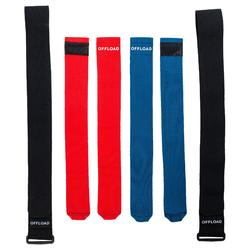 Rugby Flag Belt Set R500 blau/rot