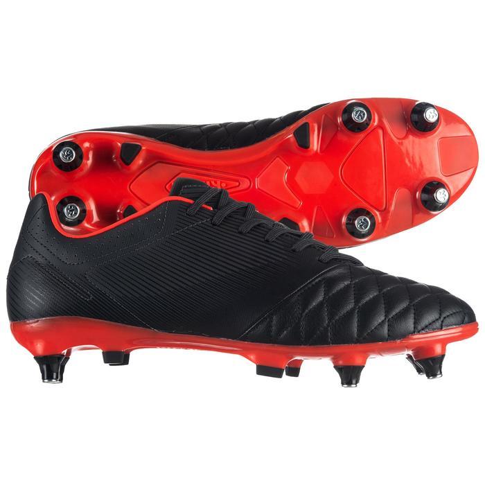 Chaussure de rugby hybride Agility R900 SG noir rouge
