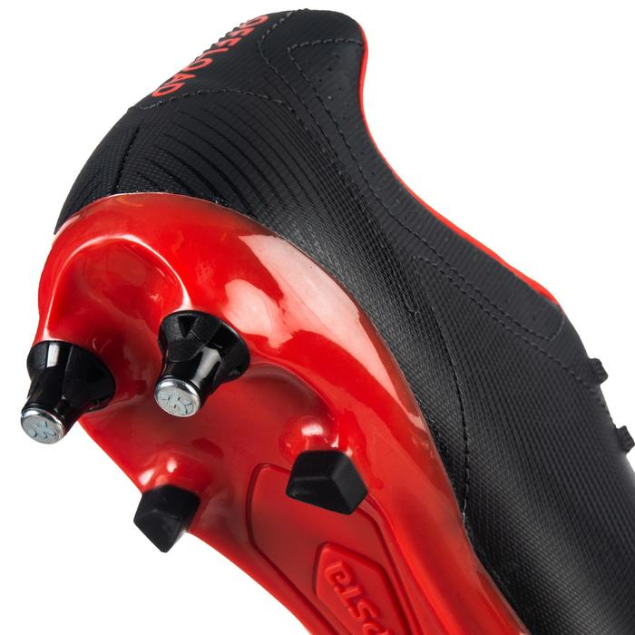 Chaussures de rugby hybride Agility R900 SG noir rouge