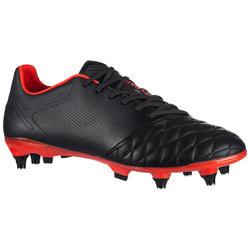 Botas de Rugby Offload Agility R900 SG taco aluminio negro y rojo