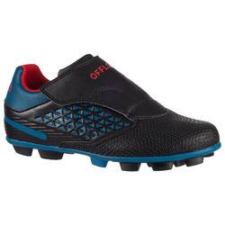 Rugbyschoenen voor kinderen Skill R100 FG vaste noppen blauw