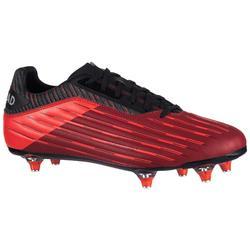 Rugbyschoen voor heren drassig terrein Skill R500 SG 6 noppen rood