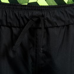 Pantalón cortaviento impermeable Smockpant lluvia rugby 500 júnior negro