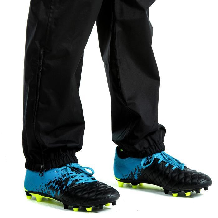 Pantalon coupe vent imperméable Smockpant pluie de rugby R500 junior noir