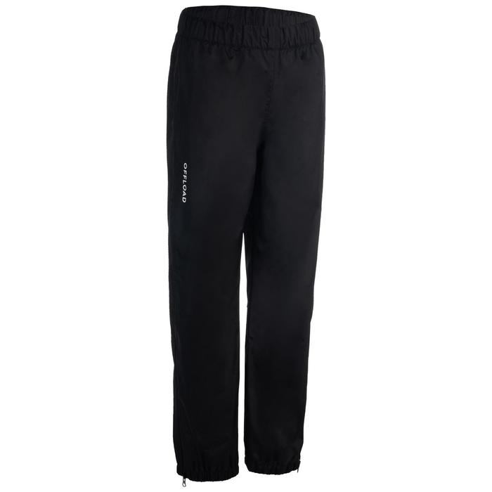 Pantalón cortaviento impermeable Smockpant lluvia rugby 500 adulto negro
