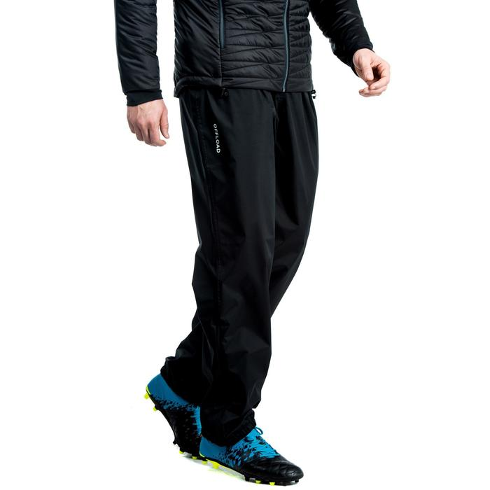 Pantalon coupe vent imperméable Smockpant pluie de rugby R500 adulte noir