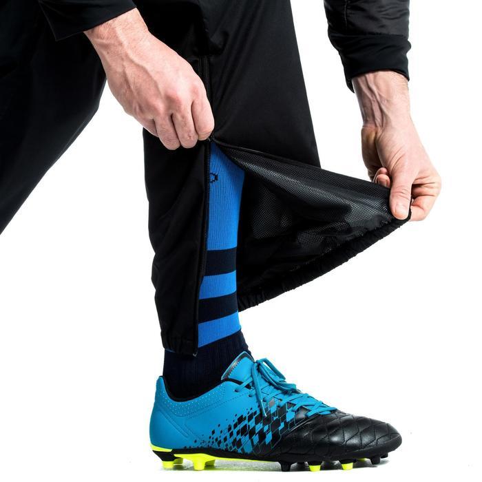 Pantalon coupe vent imperméable Smockpant pluie rugby R500 adulte noir