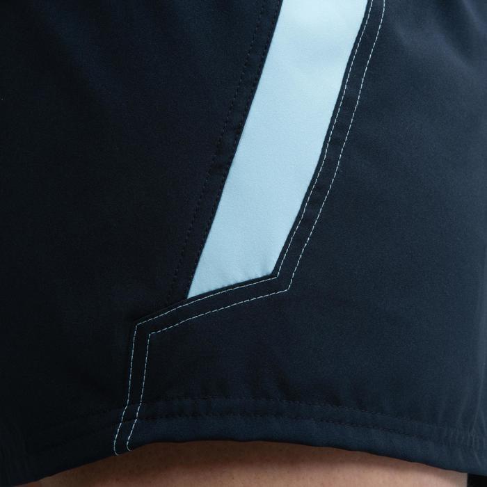 Rugbyshort voor dames R500 marineblauw/lichtblauw