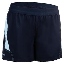 Pantalón corto Rugby Offload R500 Mujer azul