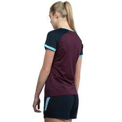 Camiseta de Rugby Offload R500 Mujer Ciruela Azul marino
