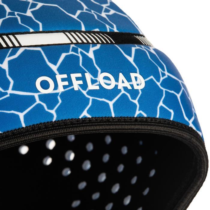 Casco de protección de rugby R100 júnior azul tortuga