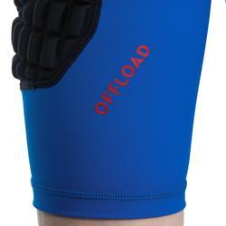 Short térmico de protección rugby R500 júnior azul