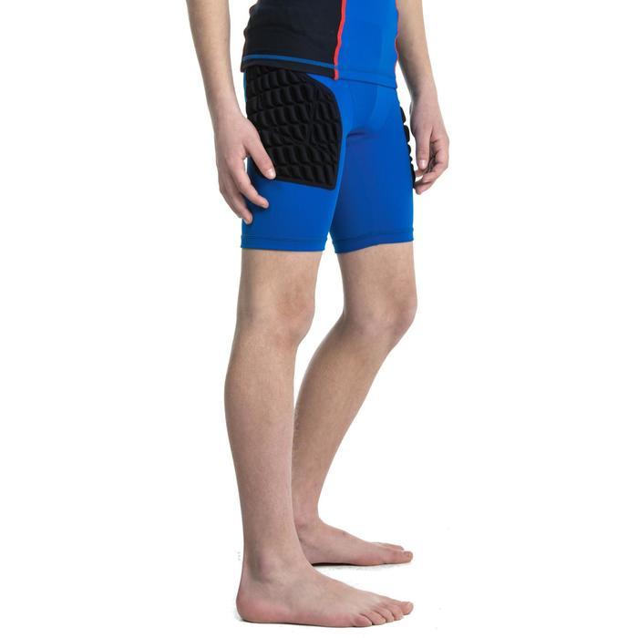 Protector-Shorts Rugby R500 Kinder blau
