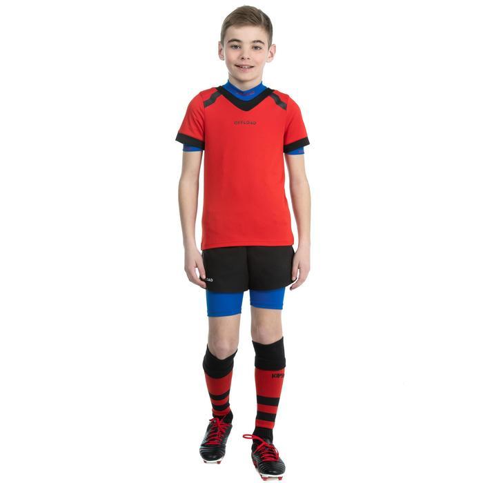 Short protección Rugby Offload R500 niños azul