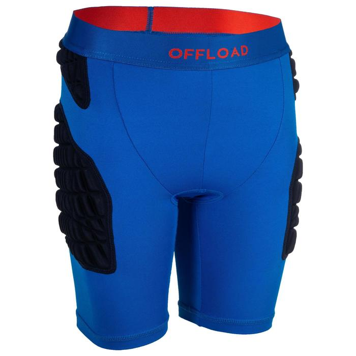 R500 Kids' Protective Rugby Undershorts - Blue