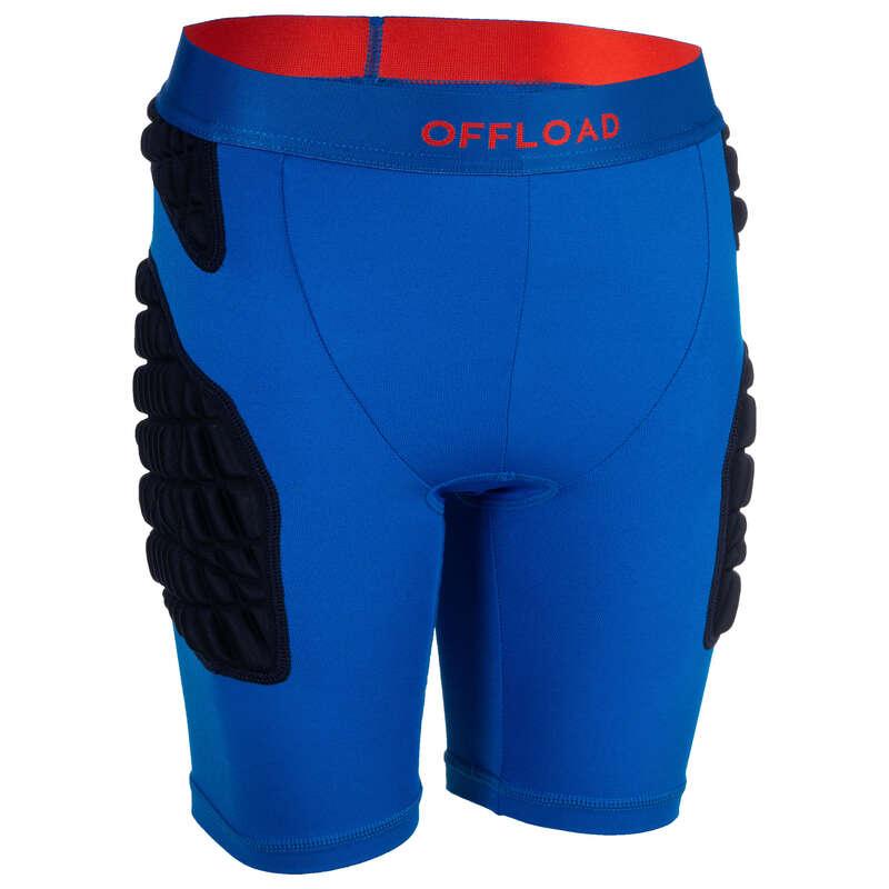 PROTEZIONI RUGBY Sport di squadra - Sotto-short rugby jr R500 blu OFFLOAD - Protezioni rugby