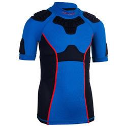 兒童款橄欖球肩胸墊R500 - 藍色
