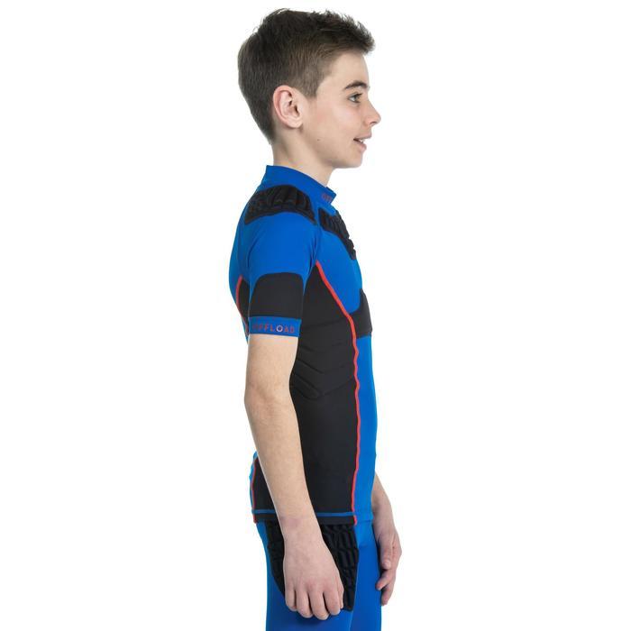 Epaulière de rugby R500 enfant bleue