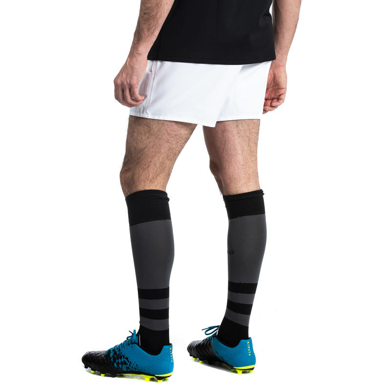 Adult Rugby Shorts with Pockets R100 - White