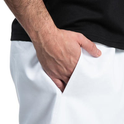 Short rugby adulte avec poches R100 blanc