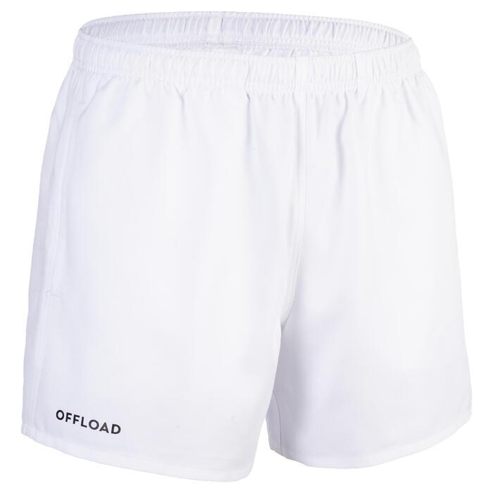 Pantalón corto Rugby Offload R100 sin bolsillos niños blanco