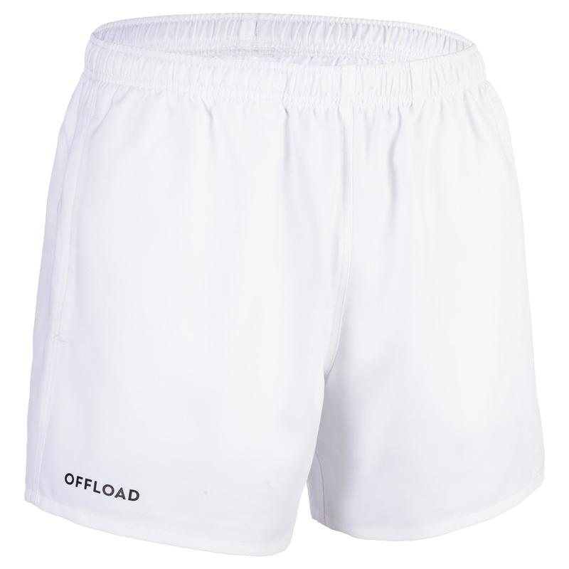 R100 Junior Rugby Club Pocketless Shorts - White