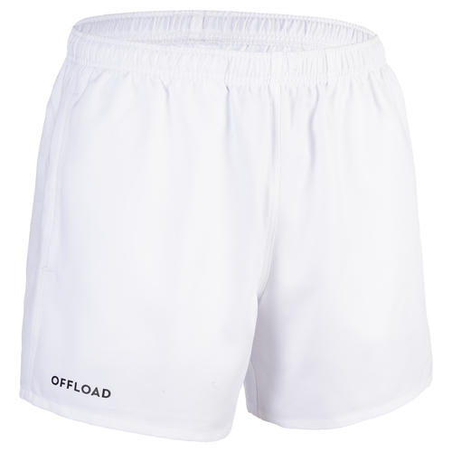 SHORT RUGBY CLUB SANS POCHE R100 ADULTE BLANC