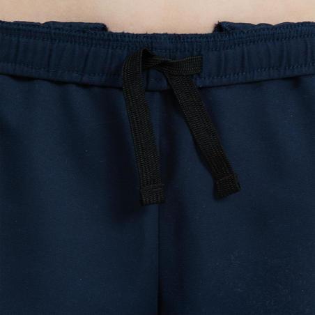 Short corto Rugby R100 con bolsillos júnior azul