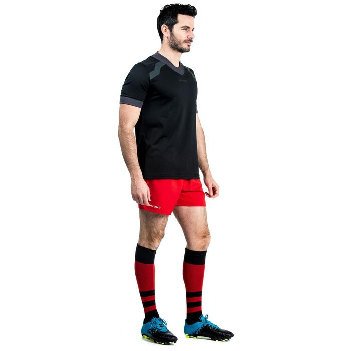 Short rugby adulte avec poches R100 rouge