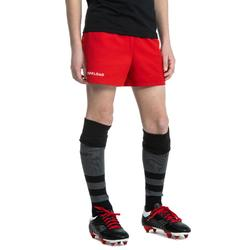 Short Rugby R100 enfant rouge