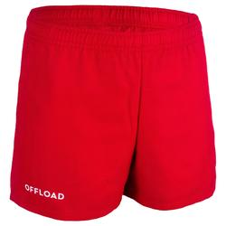 Rugbyshorts R 100 Kinder rot