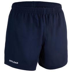 Rugbyshorts Club R100 ohne Tasche Erwachsene marineblau