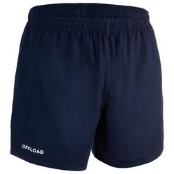 SHORT CLUB RUGBY SANS POCHE R100 adulte marine